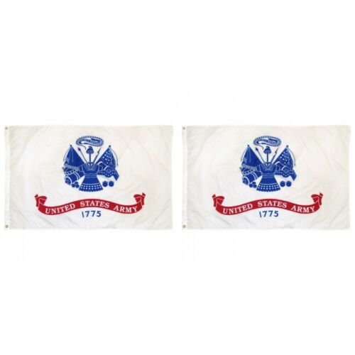 2-Pack 3x5 FT United States Army 1775 Flag USA Military U.S Classic Banner