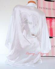 NWD VICTORIA'S SECRET I Do Bling Heart Bride Kimono Robe One Size White No Belt