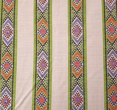 Indian Paintbrush BTY Felcia Gallo Ink /& Arrow Southwest Blanket Stripe White