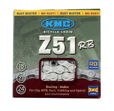 "KMC Z51 5//6//7//8-Speed 3//32/"" Bicycle Chain w// MissingLink 116L fits Shimano SRAM"