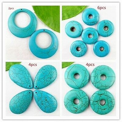 wholesale beautiful different Shape green Turquoise pendant beads 1000