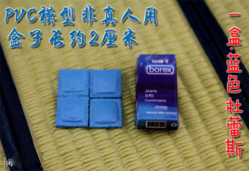 """1:6th Blue Mini condoms Model Box collocation for 12/"""" Figures Toy scenario Hot"""