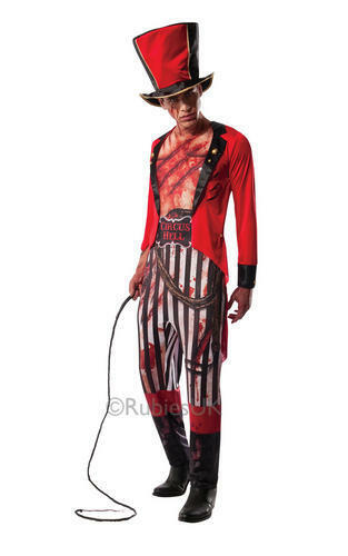 Lion Tamer Mens Halloween Fancy Dress Circus Horror Adults Costume Outfit Hat