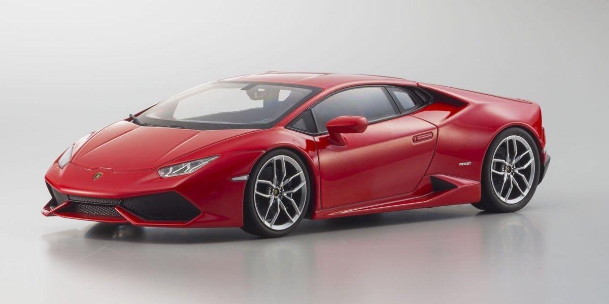 1/18 Kyosho Lamborghini Huracan LP610-4 Metallic rosso Diecast Model rosso C09511R