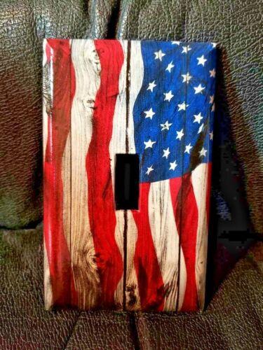 Brand New American Flag Patriot Handmade Custom Light Switch Wall Plate Cover