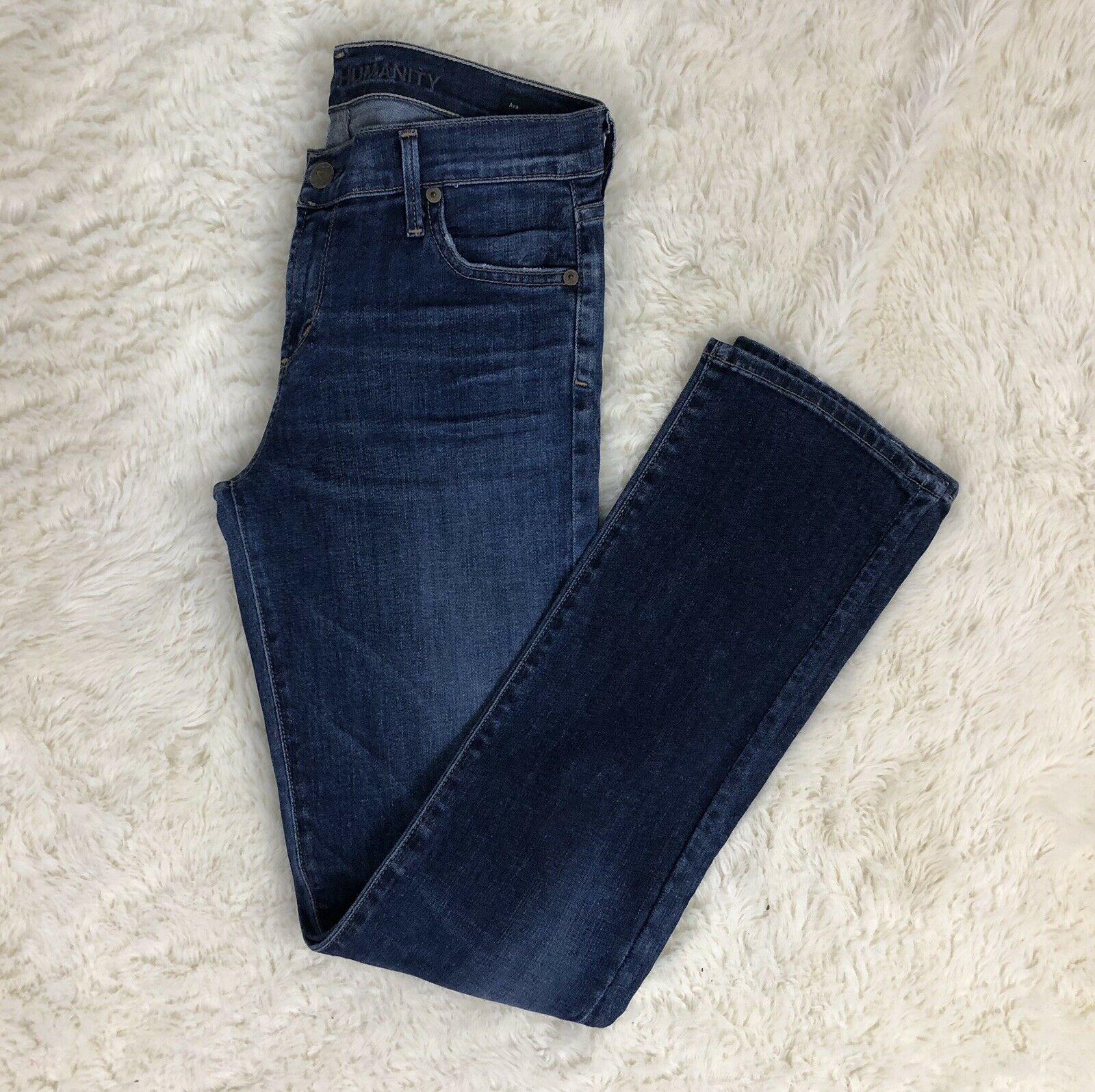 Citizens of Humanity Women's Jeans Ava Straight Leg Size 28 Low Rise
