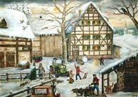 Richard Sellmer Verlag - Traditional German Paper Advent Calendar - Winter Farm