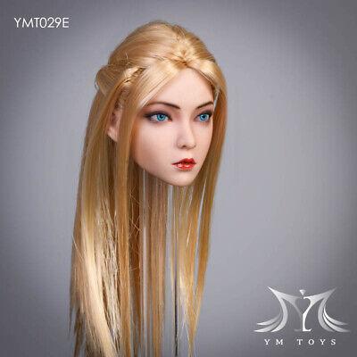 YM TOYS 1//6 Girl Head Sculpt Blue eyes for 12/'/' Female Figure Suntan PHICEN TBL