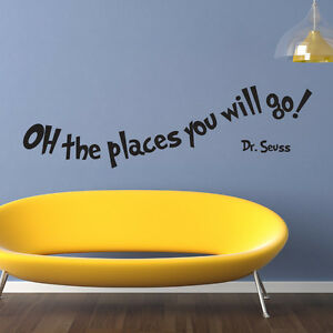 Image Is Loading OH THE PLACES YOU WILL GO DR SEUSS