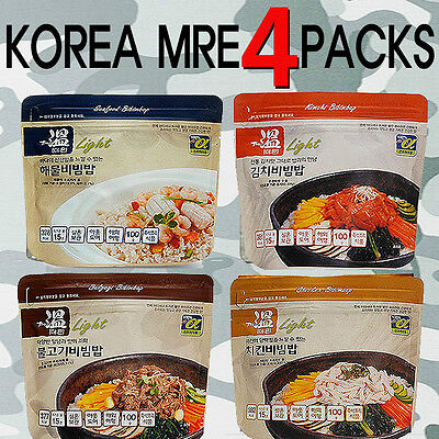 [BEST] Korea Military MRE Camping Outdoor Rice Food Combat Emergency Rations-4EA