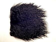 "Black Tibetan Lamb Mohair for Doll Wigs 4x4"" Mongolian Curly Fur Hair"