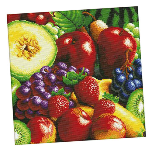 Fruits Pattern Stamped Cross Stitch Kits 11 Counted Embroidery DIY Craft