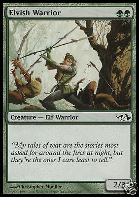 Elvish Warrior MTG MAGIC DD EvG 4x Guerriero Elfico