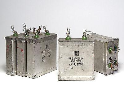 6x MP-Kondensator 6 µF / 160 V, für Lautsprecher Frequenzweichen, etc.