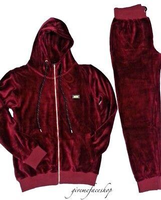 Noir Hip Hop Super Star Premium Fashion Jogging Set Homme Velours Survêtement