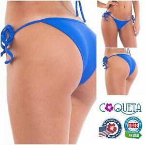4f27712adf Women's Thong Bikini Royal Bottom Skimpy Tie Side Teeny Swimsuit ...