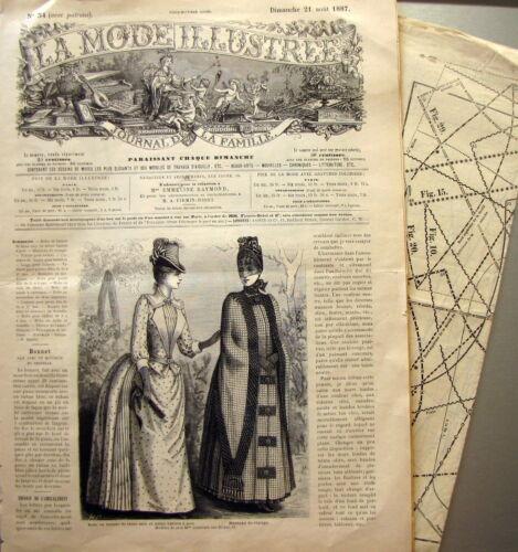 FRENCH PATTERN n° 34//1887 Voir modèles à réaliser LA MODE ILLUSTREE PATRON