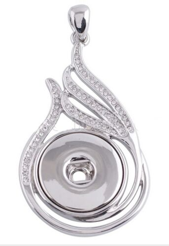 Silver Round Heart Pendant 18-20mm Snap Charm Jewelry For Ginger Snaps