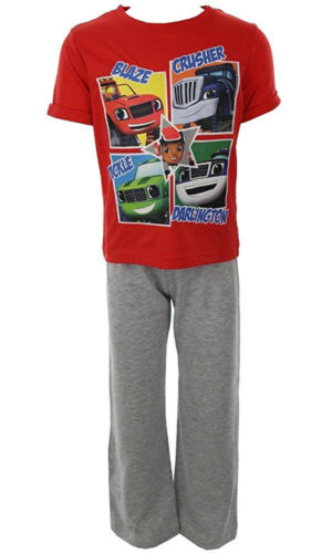 Blaze Boys Short Sleeve Pyjamas Ages 18-24 Months to 4-5 Years