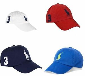 fcdafd07 Little Boys & Toddler Polo Ralph Lauren Big Pony Baseball Cap White ...