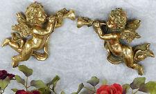 Engel Set Wanddeko Engelfigur Barock Putte Wandengel Skulptur Figur Antik gold