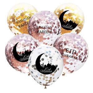 10pcs-12inchs-Eid-Mubarak-Confetti-Ballons-Musulman-Maison-Fete-Decoration