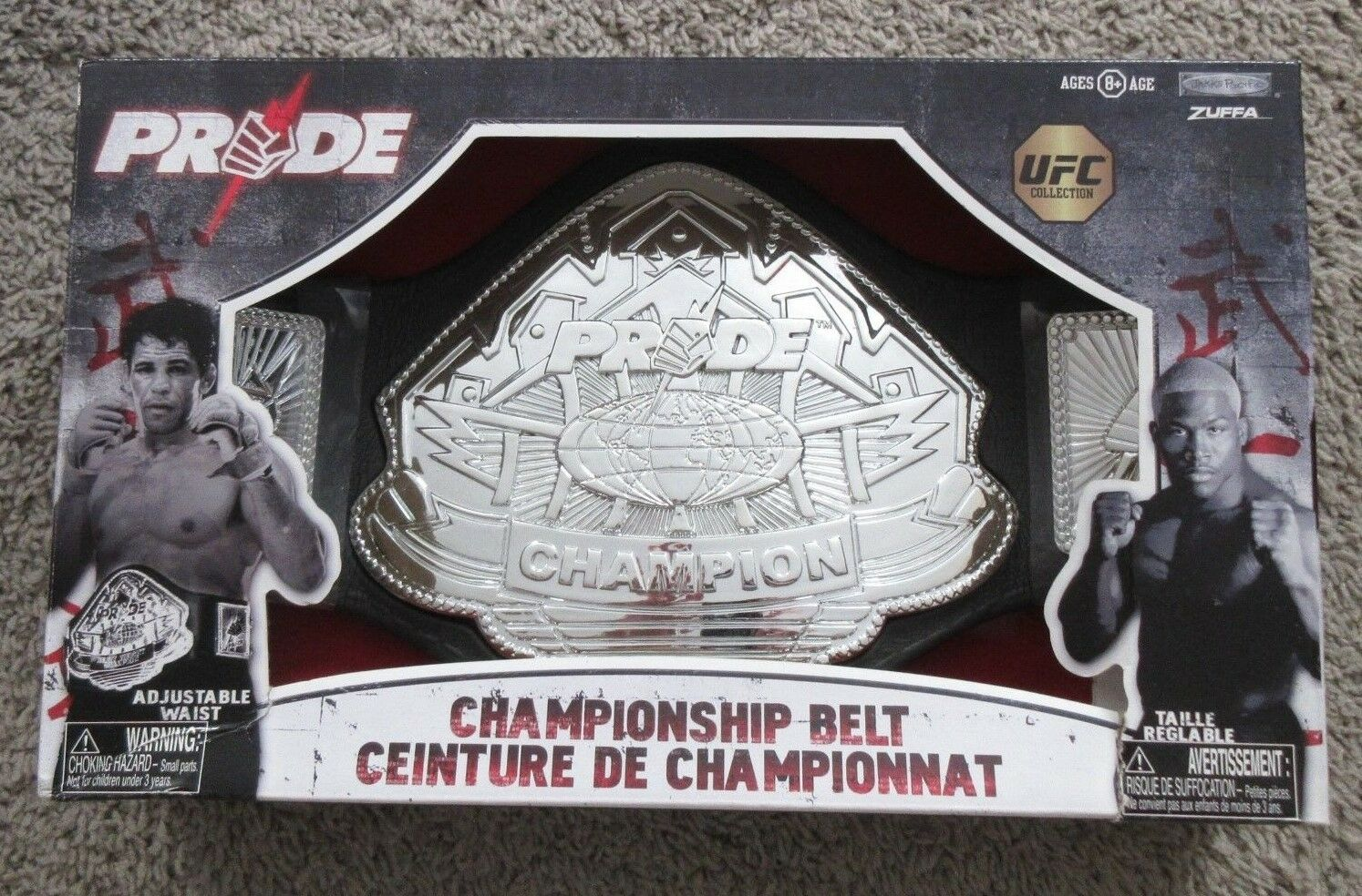 PRIDE UFC COLLECTION CHAMPIONSHIP BELT JAKKS PACIFIC ZUFFA RARE FOAM MMA