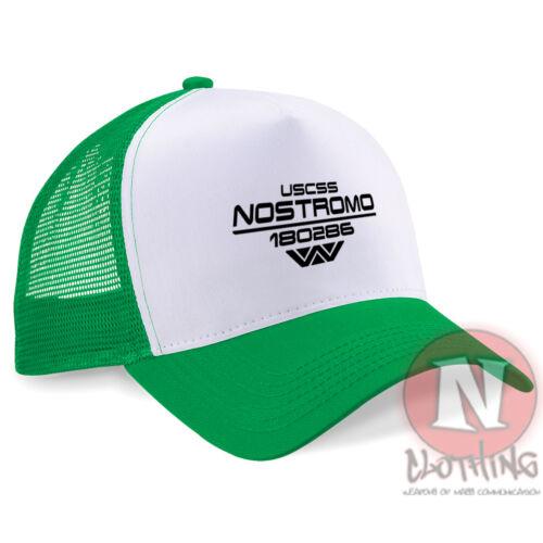 USCSS Nostromo crew cap Half mesh retro trucker baseball hat Aliens Alien