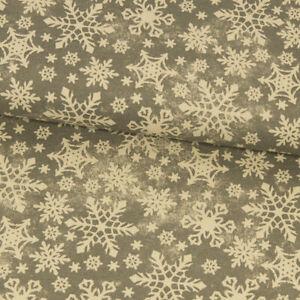 Dekostoff-Eiskristalle-grau-Canvasstoff-Dekorationen