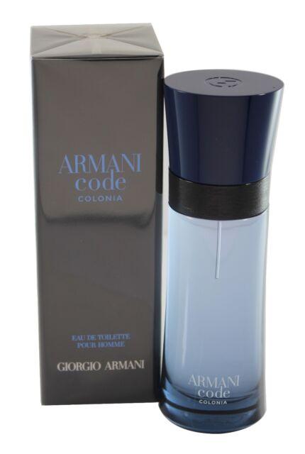 f9c47cce37de Armani Code Colonia by Giorgio Armani for Men Edt 2.5 OZ 75 ML Spray New In