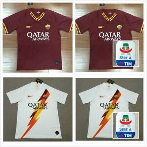 03e9d01d9 New 2019/2020 Roma Home Soccer Jersey Man football shirt Tee Armband ...