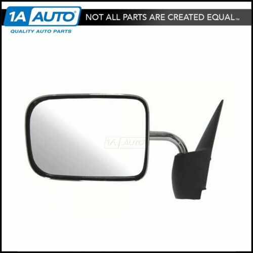 Chrome Manual Side View Mirror Driver Left LH for 94-97 Dodge Ram Pickup Truck