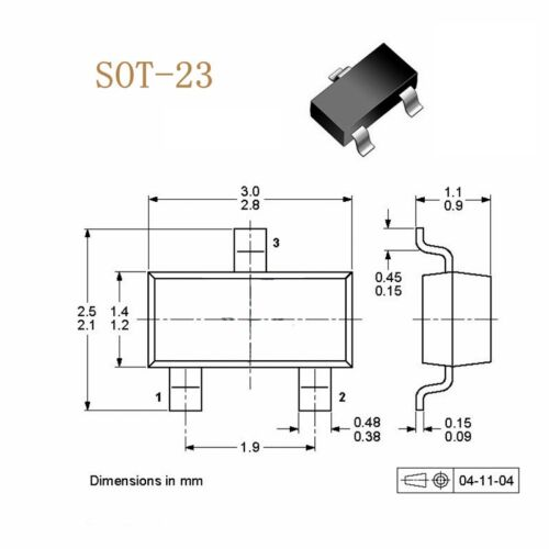 100 PCS NEW BF862 JFET N-CHAN 20V SOT-23 ZETEX