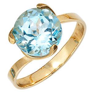 Anillo-Mujer-14k-585-Oro-Amarillo-1-TOPACIO-AZUL-Azul-Claro-Anillo-de-oro