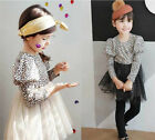 Baby Kids Girls Leopard Princess Birthday Party Puff Ball Tulle Fancy Dress 2~7Y