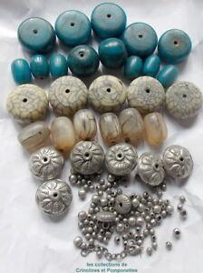 Initiative Perles Resine Intercalaires Metal Montez Vous Meme Votre Sautoir Bleu Vert