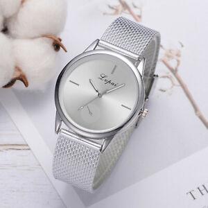 Lvpai-Damen-Casual-Quarz-Silikon-Band-Armband-Uhr-Analog-Legierung-Armbanduhr
