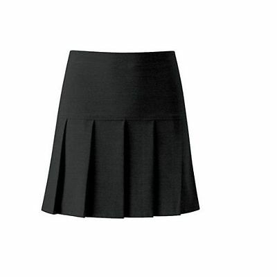 LADIES KIDS GIRLS PLEATED ALL ROUND  SIDE ZIP UNIFORM  SKIRT SIZE KIDS TO ADULT
