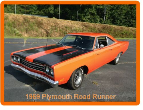 Tool Box Magnet 1969 Plymouth Road Runner Auto Refrigerator