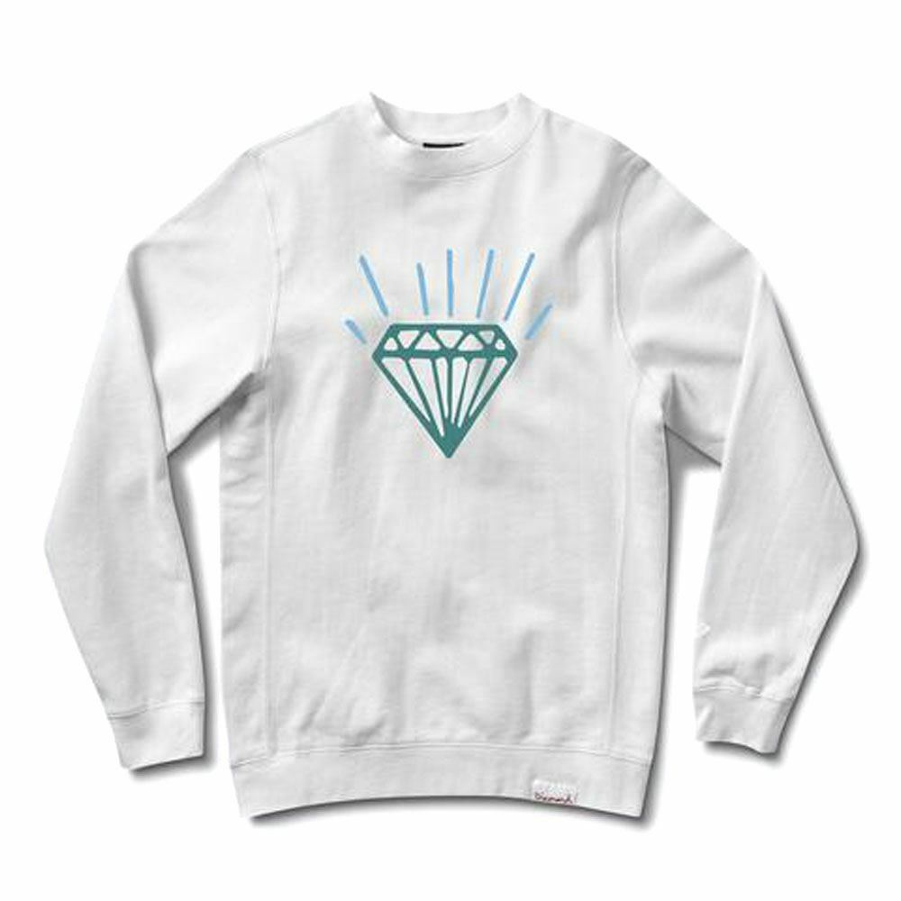 Diamond Supply Co Gem Crewneck bianca