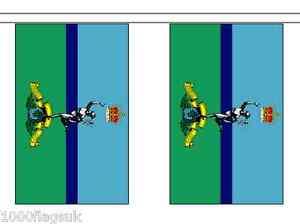 Armée Britannique Corps Royal Des Signals Polyester Bruant De Drapeau 3m De Long 6gmqr1a0-07214019-420989530