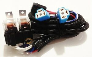 Details about H4 Headlight Relay Wiring Harness 2 Head Lamp Systems on
