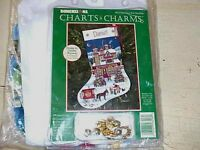 Christmas Past Stocking Cross Stitch Kit Dimensions Charts & Charms Wysocki