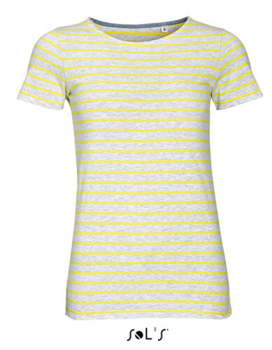 Sols Damen T-Shirt ROUND NECK STRIPED T-SHIRT MILES XS S M L XL XXL Neu 01399