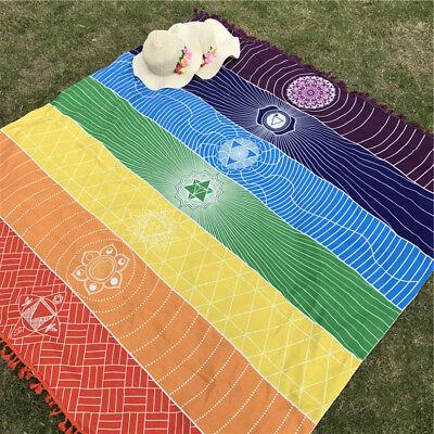 Organic Cotton Chakra Meditation Towel Beach Yoga Mat Bath Sheet Healing Lgbt Uk Ebay