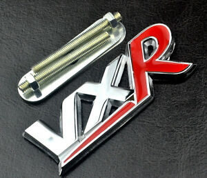 VXR-Badge-Chrome-amp-Red-Car-Tailgate-Emblem-Front-Grille-For-Zafira-Tourer-Corsa