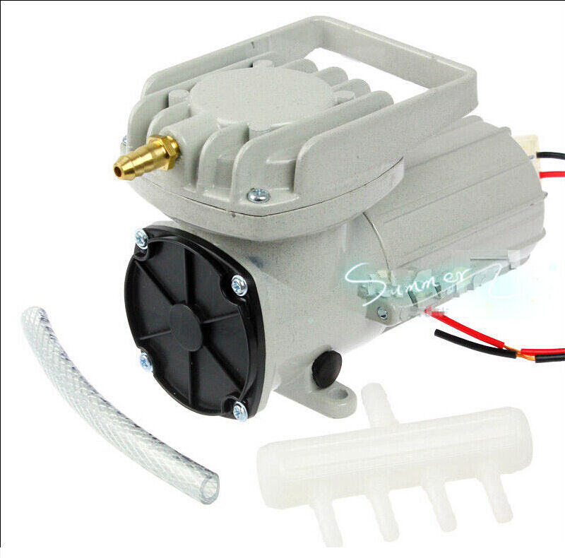 DC12V 9600L H Permanent Aquarium Air Compressor Pump Fish Pond Inflated Aerator