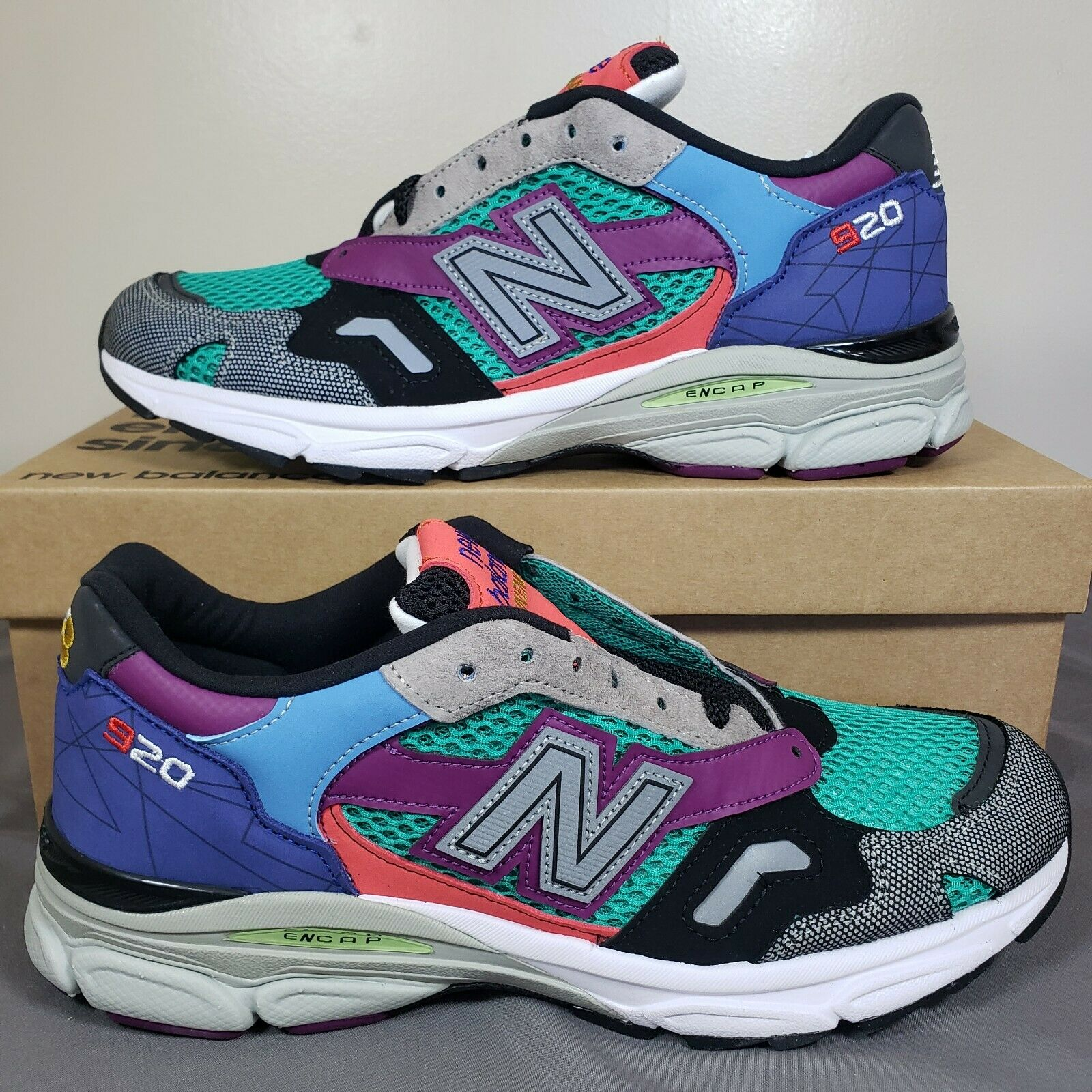 New Balance 920 Made In England Mixed Medium Pack Multicolor New Sz 9.5 M920MM