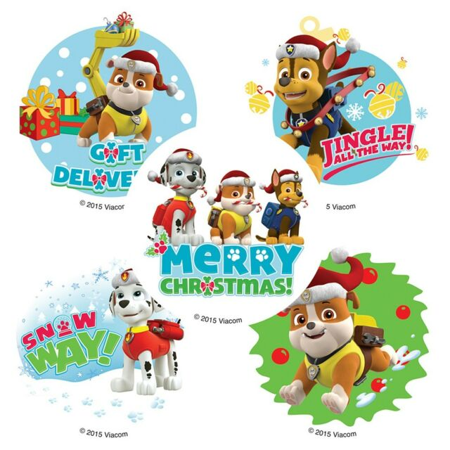 Paw Patrol Christmas.30 Paw Patrol Christmas Holiday Stickers 2 5 X 2 5 Each Party Favors