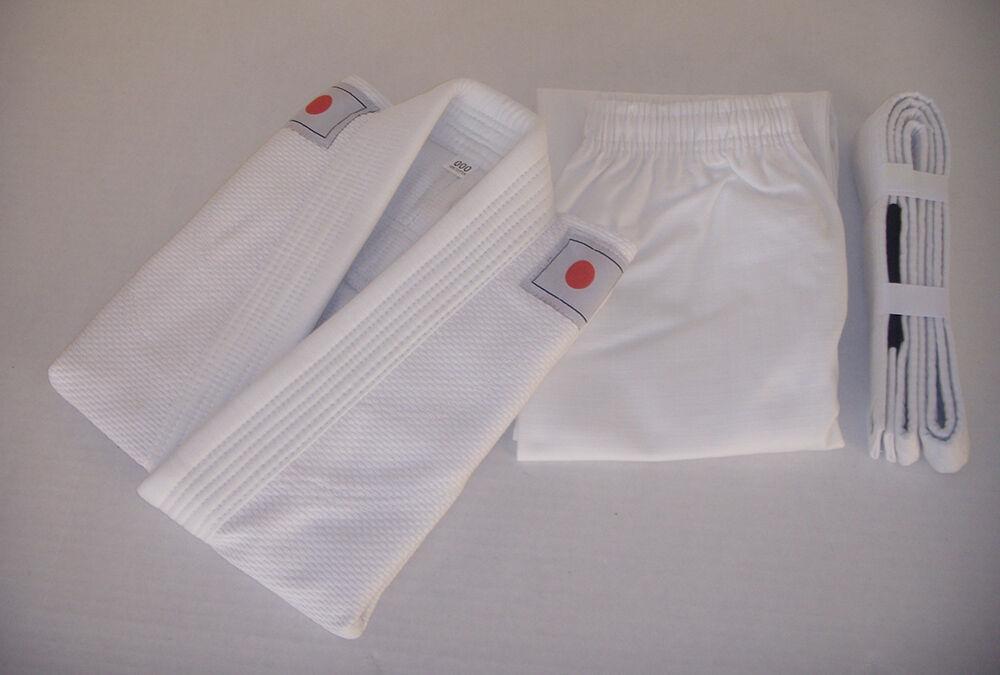 Jiu Jitsu Gi for Kids   Youth BJJ Uniform - WHITE Brazilian Jiu Jitsu with Flags